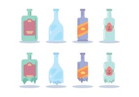 Breaking Bottle Various Vector
