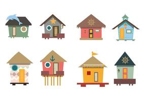 Traditional House Beach Hut  Vector