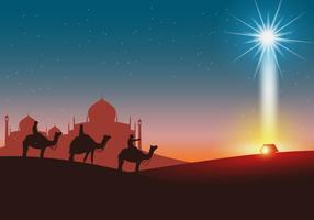 Fondo feliz de Reyes Días vectorial