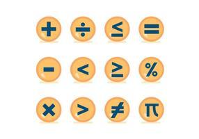Matemáticas símbolo vector Botones