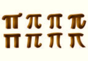 Vecteurs de symbole Pi