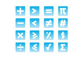 Símbolo de matemáticas de gradiente vectores