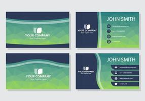 Free Polygonal Name Card Vector