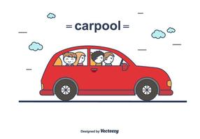 carpool vettoriale