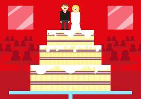 Boda Wedding Cake Vector Illustration
