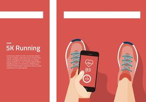 5K Running Field Template Gratis Vector