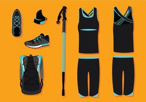 Nordic Walking Equipment Gratis Vector