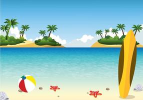 Playa del paisaje de vectores libres