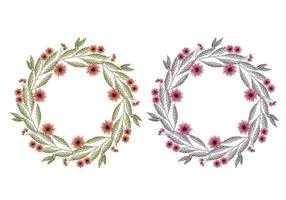 Vector Hand Drawn Floral Wreaths
