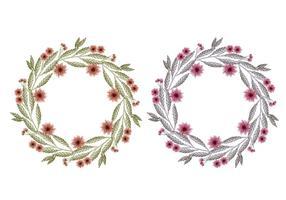 Coronas florales dibujados mano del vector