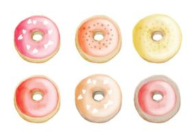 Vector hand getrokken Donuts Collection