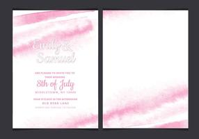 Vector Delicate Watercolor Wedding Invitation