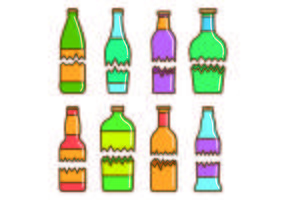 Uppsättning trasig flaska vektorer
