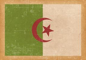 Flag of Algeria on Old Grunge Background
