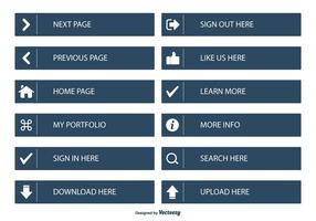 Flat Web Page Button Collection