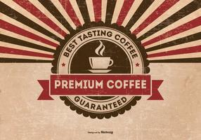 Background Grunge retro premium de café