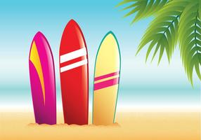 Vectorial tabla de surf de playa del verano