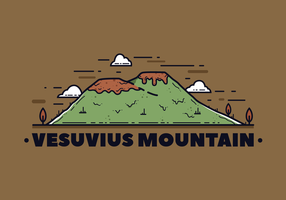 Vesuvius Mountain Vector