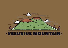 Vecteur Montagne Vésuve