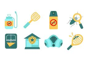 Gratis Pest Control Elements Vector