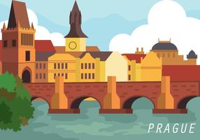 Praag Vector Illustration