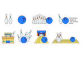 Set Of Bowling Icons vector