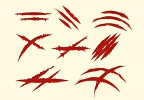 Free Red Scratch Marks Collection