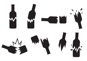 Broken Bottle Icon Vector