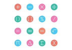 Matemática símbolo do ícone vetores