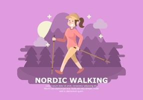 Antecedentes de Nordic Walking vector