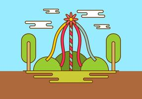 Background Maypole Em Spring Time Vector