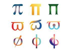 Pacote do vetor do símbolo do Pi