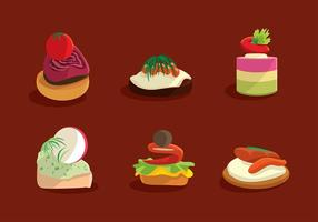 Canapes Menu Free Vector
