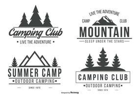 Colección del logotipo de camping