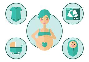 Schwangerschafts-Vektor-Icon