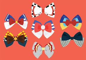 Patterned Hair Ribbon Vector Pack