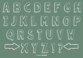 Dibujado a mano la colección del alfabeto