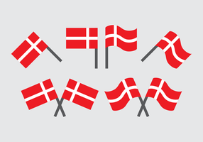 Deense Vlag Vector Collection