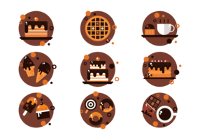 Icons Chocolate Vector