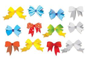 Hair Ribbon Vector Set