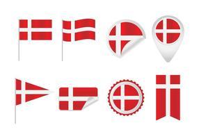 Vectores libres bandera danesa
