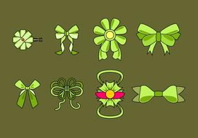 Green Hair Ribbon Free Vector