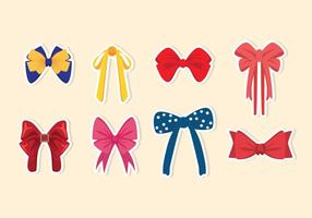 Patterned Hair Ribbon Vectors