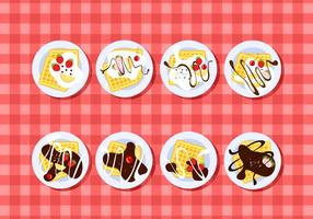 Plating Waffel Free Vector