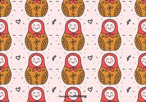Matryoshka Dolls Vector Mönster