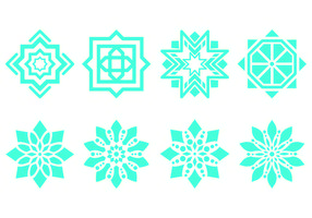 Islamic Ornament Symbols vector