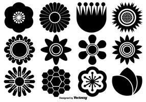 Vector Collectie Van Flat Flower Icons