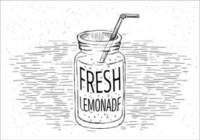 Free Lemonade Vector Jar Illustration