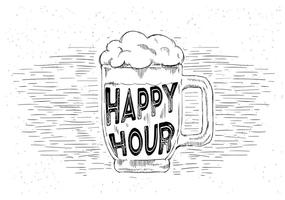 Free Hand Drawn Vector Beer