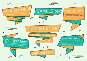 Free Vector Origami Sale Ribbons